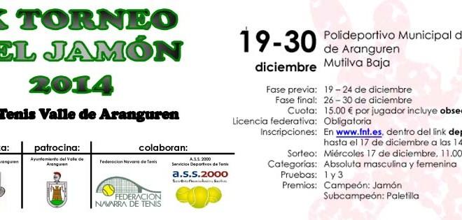 IX TORNEO DEL JAMON 2014 Cuadros y orden de juego