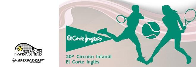 """30º CIRCUITO DE TENIS INFANTIL """"EL CORTE INGLÉS"""" Orden de juego actualizado del 3º Torneo"""