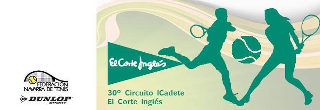 """30º CIRCUITO DE TENIS CADETE MASCULINO Y JUNIOR FEMENINO """"EL CORTE INGLÉS"""". Documentación actualizada del 3º Torneo"""